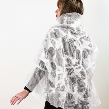 Organza Shrug – White