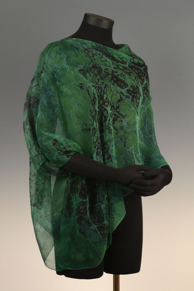 Marbled Single Poncho Green