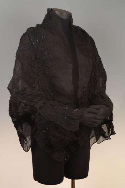 Organza Shrug – Black