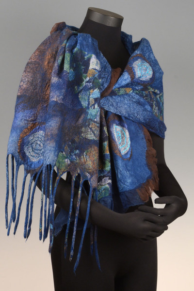 Scarf Indigo Chocolate