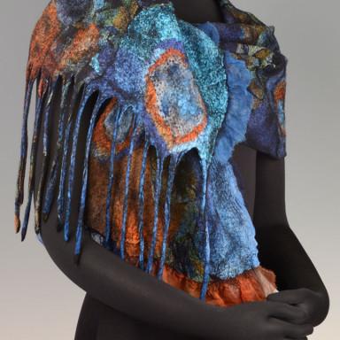 Scarf Turquoise & Resset