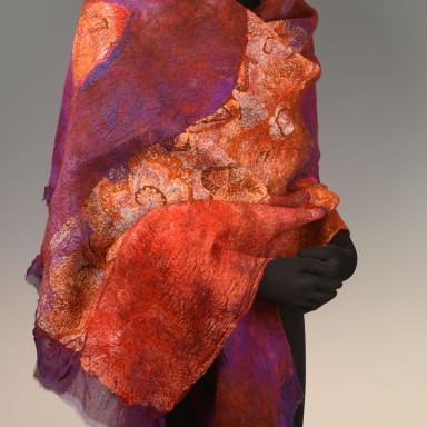 Wrap Purple & Russet